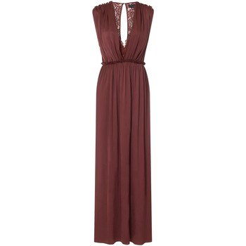 Textiel Dames Lange jurken Little Mistress Sateen Verbrande Oker