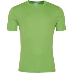 Textiel Heren T-shirts korte mouwen Awdis JC020 Kalk groen