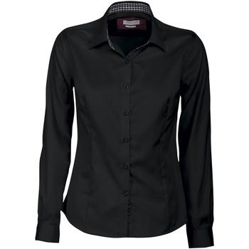 Textiel Dames Overhemden J Harvest & Frost JF006 Zwart / Rood