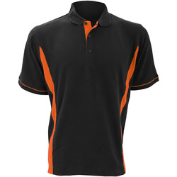 Textiel Heren Polo's korte mouwen Kustom Kit Scottsdale Zwart/Oranje