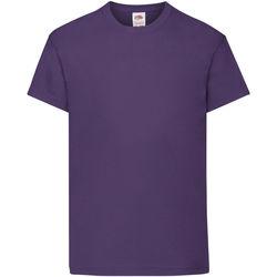 Textiel Kinderen T-shirts korte mouwen Fruit Of The Loom 61019 Paars