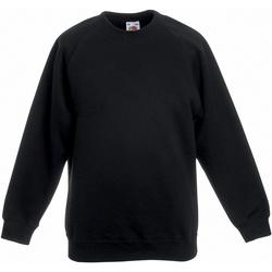 Textiel Kinderen Sweaters / Sweatshirts Fruit Of The Loom 62039 Zwart