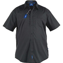 Textiel Heren Overhemden korte mouwen Duke  Zwart