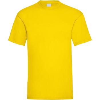 Textiel Heren T-shirts korte mouwen Universal Textiles 61036 Helder geel