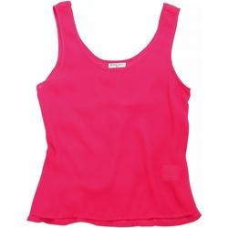 Textiel Dames Mouwloze tops Brave Soul BS163 Bubblegum Roze