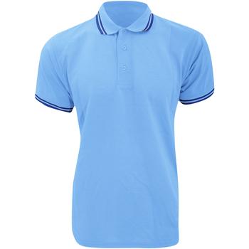 Textiel Heren Polo's korte mouwen Kustom Kit KK409 Lichtblauw/Zwaar