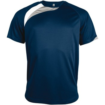 Textiel Heren T-shirts korte mouwen Kariban Proact PA436 Marine / Wit / Stormgrijs