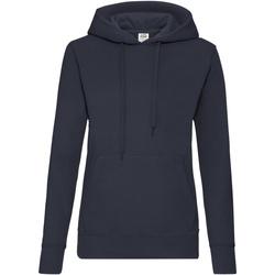 Textiel Dames Sweaters / Sweatshirts Fruit Of The Loom 62038 Donker Marine