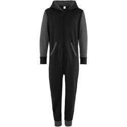 Textiel Kinderen Jumpsuites / Tuinbroeken Comfy Co CC03J Zwart/Kool