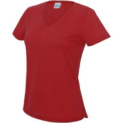 Textiel Dames T-shirts korte mouwen Awdis JC006 Vuurrood