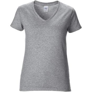 Textiel Dames T-shirts korte mouwen Gildan GD015 RS Sport Grijs