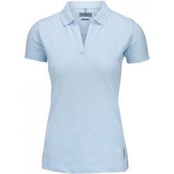 Textiel Dames Polo's korte mouwen Nimbus Harvard Hemelsblauw