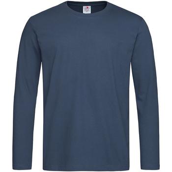 Textiel Heren T-shirts met lange mouwen Stedman  Navy