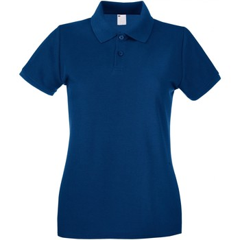Textiel Dames Polo's korte mouwen Universal Textiles 63030 Marineblauw