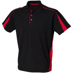 Textiel Heren Polo's korte mouwen Finden & Hales LV390 Zwart/Rood