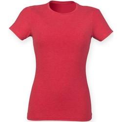 Textiel Dames T-shirts korte mouwen Skinni Fit SK161 Rode Triblend