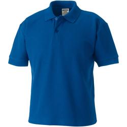 Textiel Jongens Polo's korte mouwen Jerzees Schoolgear 539B Helder Koninklijk