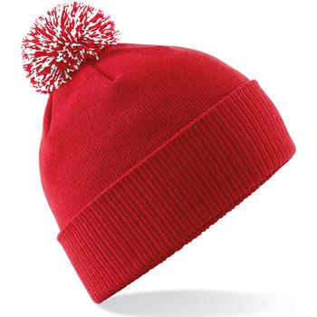 Accessoires Meisjes Muts Beechfield Snowstar Klassiek rood/wit