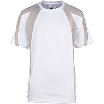 Textiel Jongens T-shirts korte mouwen Rhino RH40B Wit/Grijs