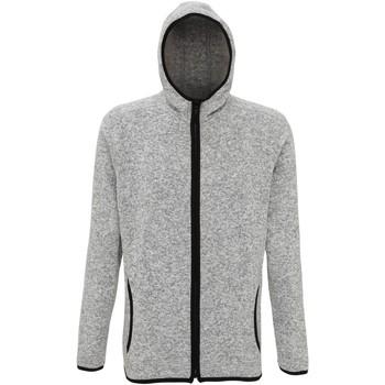 Textiel Heren Fleece Tridri TR071 Heide Grijs/Zwarte Vlek