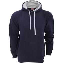Textiel Heren Sweaters / Sweatshirts Fdm FH002 Marine / Heide Grijs