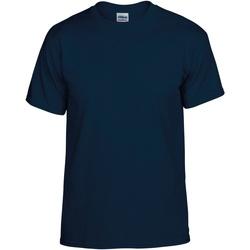 Textiel Heren T-shirts korte mouwen Gildan DryBlend Marine Blauw