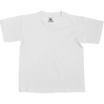 Textiel Kinderen T-shirts korte mouwen B And C TK300 Wit