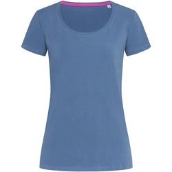 Textiel Dames T-shirts korte mouwen Stedman Stars  Denim Blauw