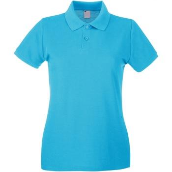 Textiel Dames Polo's korte mouwen Universal Textiles 63030 Cyaan