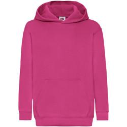 Textiel Kinderen Sweaters / Sweatshirts Fruit Of The Loom 62043 Fuchsia