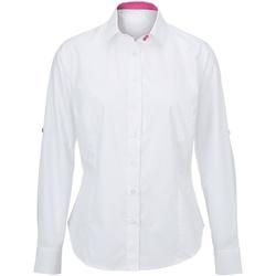 Textiel Dames Overhemden Alexandra AX060 Wit/roze