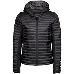 Textiel Dames Dons gevoerde jassen Tee Jays Aspen Jet Zwart/Zwarte Melange