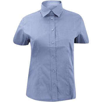 Textiel Dames Overhemden Kustom Kit KK719 Lichtblauw