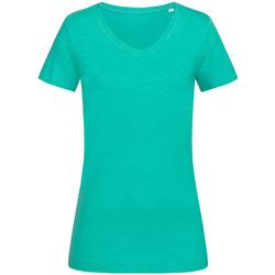 Textiel Dames T-shirts korte mouwen Stedman Stars  Turquoise