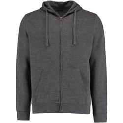 Textiel Heren Sweaters / Sweatshirts Kustom Kit KK303 Donkergrijs mergel
