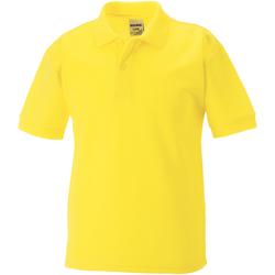 Textiel Jongens Polo's korte mouwen Jerzees Schoolgear 539B Geel