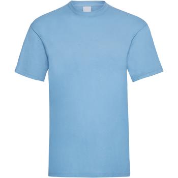 Textiel Heren T-shirts korte mouwen Universal Textiles 61036 Lichtblauw