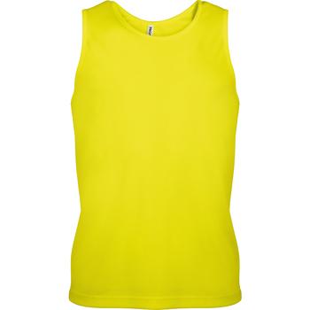 Textiel Heren Mouwloze tops Kariban Proact PA441 Fluorescerend Geel