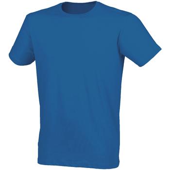 Textiel Heren T-shirts korte mouwen Skinni Fit SF121 Heideblauw