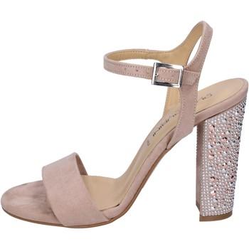 Schoenen Dames Sandalen / Open schoenen Olga Rubini sandali camoscio sintetico strass Rosa