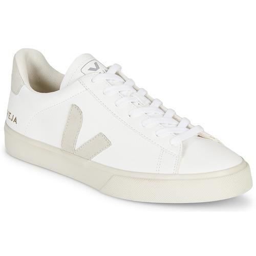 Schoenen Lage sneakers Veja CAMPO Wit / Grijs