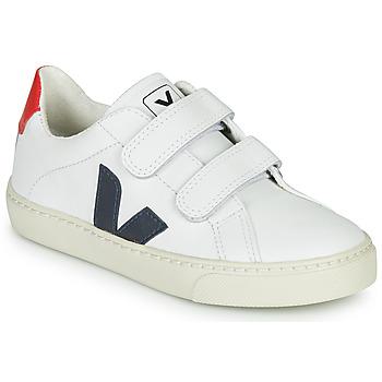 Schoenen Jongens Lage sneakers Veja SMALL-ESPLAR-VELCRO Wit / Blauw / Rood