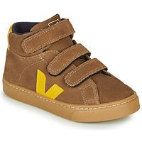 Schoenen Kinderen Hoge sneakers Veja SMALL-ESPLAR-MID Bruin / Geel