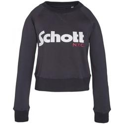 Textiel Dames Sweaters / Sweatshirts Schott Sweatshirt SW GINGER 1 W Marine Blauw