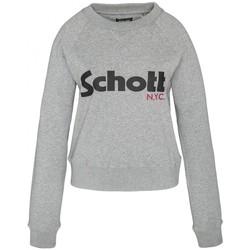 Textiel Dames Sweaters / Sweatshirts Schott Sweatshirt SW GINGER 1 W HEATHER GREY Grijs