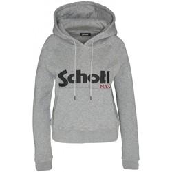 Textiel Dames Sweaters / Sweatshirts Schott Sweatshirt à capuche femme SW GINGER 2 W Heather Grey Grijs