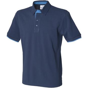 Textiel Heren Polo's korte mouwen Front Row FR200 Marine