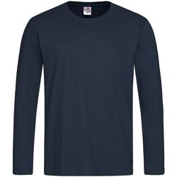 Textiel Heren T-shirts met lange mouwen Stedman  Donkerblauw