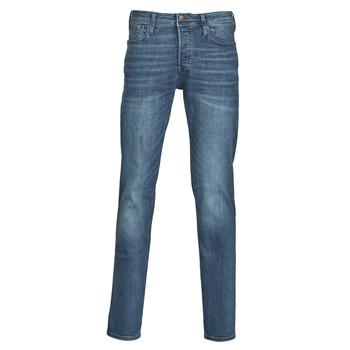 Textiel Heren Skinny jeans Jack & Jones JJITIM Blauw / Donker