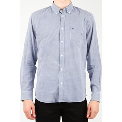 Textiel Heren Overhemden lange mouwen Wrangler 1 PKT Shirt W5929M8DF blue, white